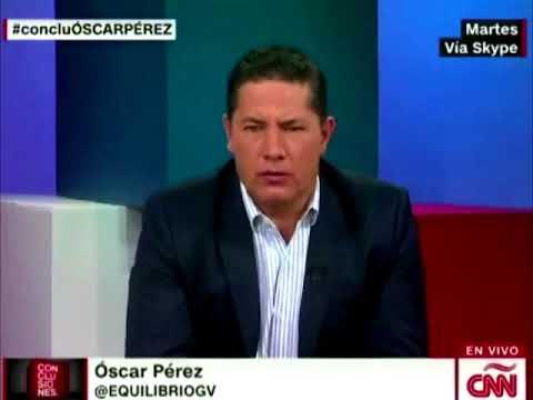 Vean la deprimente posición de Óscar Pérez en entrevista a CNN...