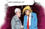Increíble: Pence (el vice gringo) dice que no le gustan las medidas económicas de Maduro. que él tenía unas mejores con apoyo de sus portaaviones...