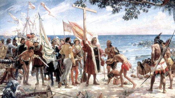 Gachupines quedaron bien chucky porque llaman a Colón genocida, en Los Ángeles (EE UU)