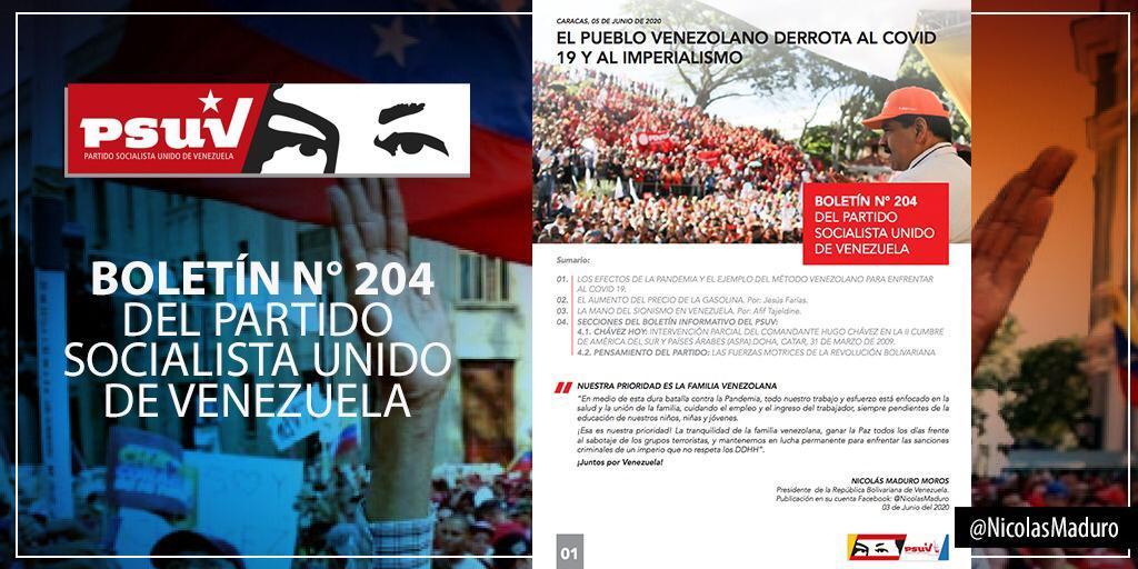 Lea el Boletín Informativo N° 204 del Partido Socialista Unido de Venezuela (PSUV) (+Descarga)
