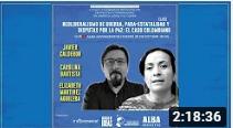 Neoliberalismo de guerra, para-estatalidad y disputas por la paz: el caso colombiano - Clase 7