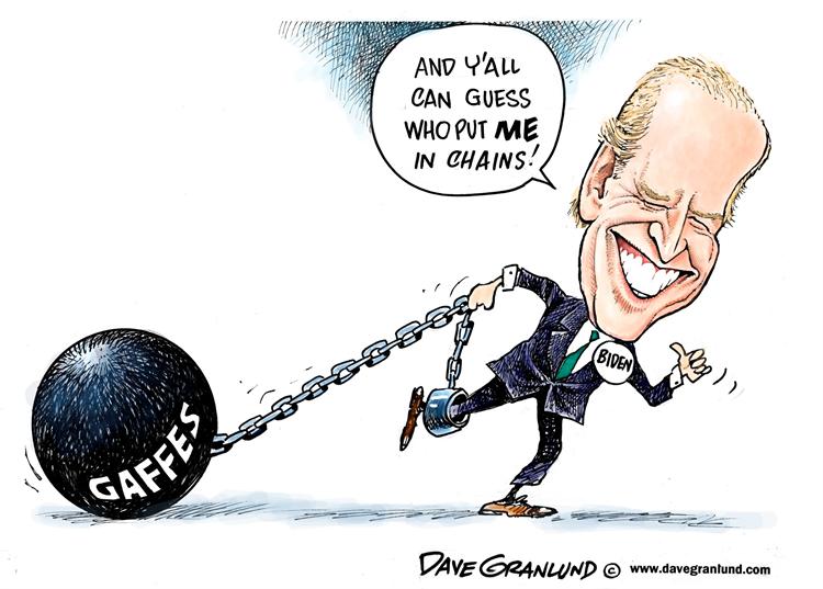 No se vaya a creer ni por asomo que Biden es mejor que Trump, el tipo además de horrible gringo, es medio gafo y así lo ponen en casi todas las caricaturas...