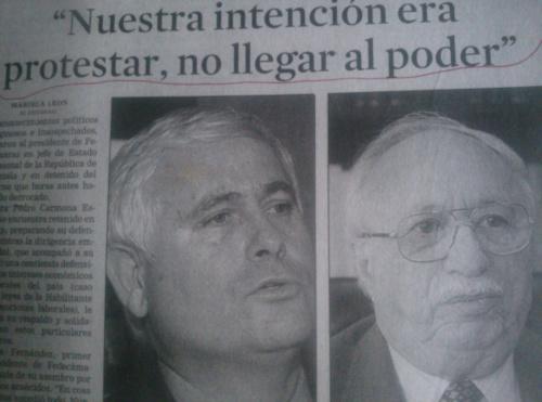 HEMEROTECA:  Cuando la derecha se caga… Así pedía cacao FEDECÁMARAS el 13-A de 2002…