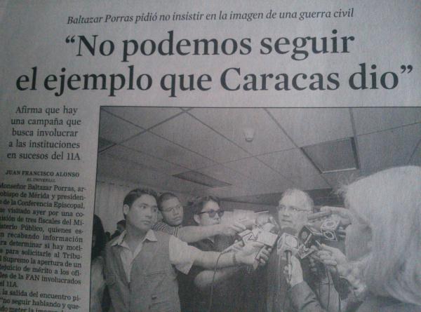 HEMEROTECA:  Cuando la derecha se caga… el demoníaco obispo Baltazar Porras atacando nuestro Himno Nacional, el 13-A de 2002…