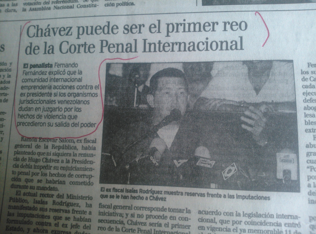 LAS PUTAS DE LOS MEDIOS: Así arremetían los medios contra Chávez, apenas comenzaba a gobernar…