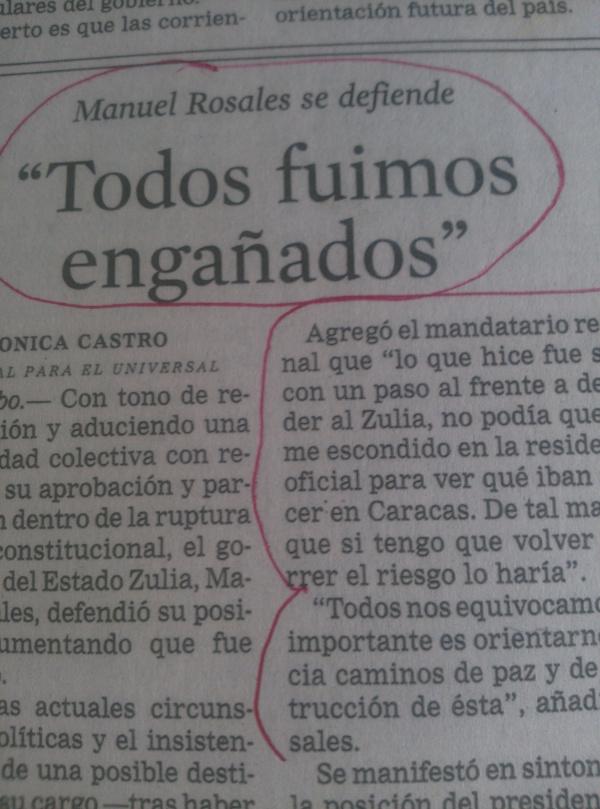 HEMEROTECA:  Cuando la derecha se caga… Así pedía cacao Manuel Rosales, el 13-A de 2002…