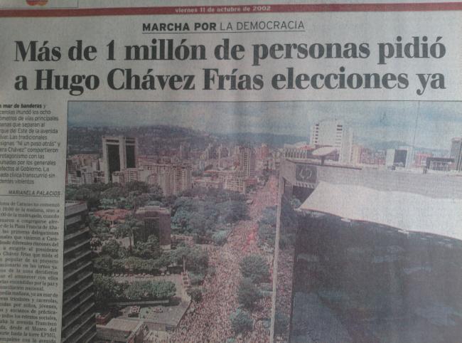 LAS PUTAS DE LOS MEDIOS, aquel 11 de 0ctubre de 2002,... afincando el acelerador para derrocar Chávez...