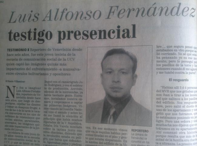 LAS PUTAS DE LOS MEDIOS: Cuando el fascismo español premió al palangrista  Luis Alfonso Fernández de Venevisión...